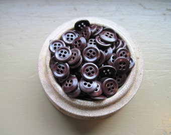 buttons deep maroon brown lot of 100