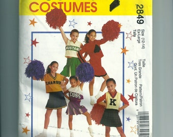 McCall's Children's and Girls' Cheerleader Costume Pattern 2849