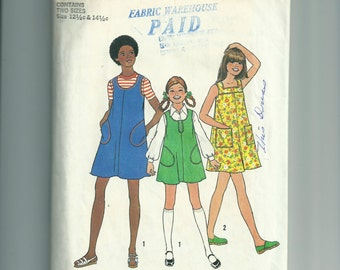 Vintage Simplicity Girls' and Chubbies Dress or Jumper Pattern 7370