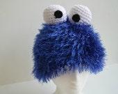 Cookie Monster Hat Costume crochet