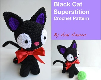 Cat Crochet Pattern Amigurumi Black Cat Superstition PDF