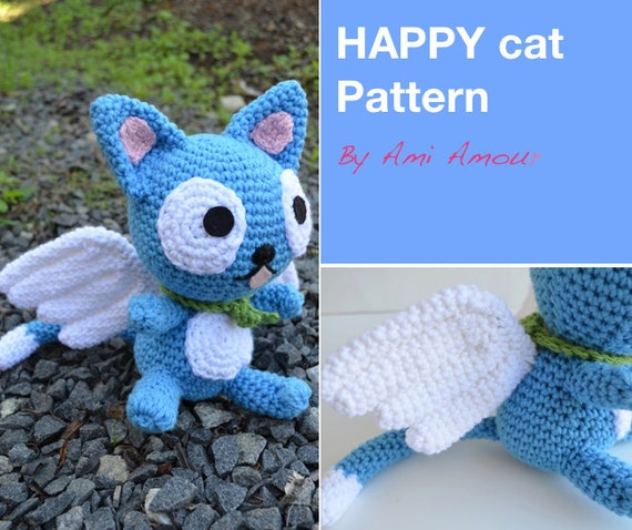 Amigurumi Fairy Pattern : Happy Fairy Tail Cat Crochet Pattern Amigurumi by amiamour ...