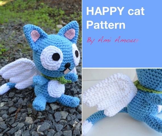 Happy Fairy Tail Cat Crochet