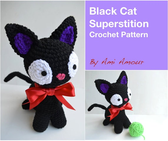 Amigurumi Black Cat Pattern : Cat Crochet Pattern Amigurumi Black Cat Superstition PDF