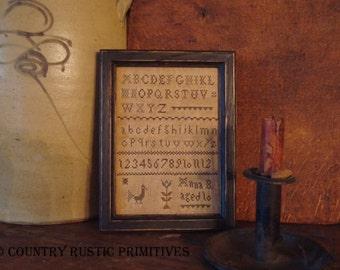 Primitive Anna B. Sampler Cross Stitch E Pattern