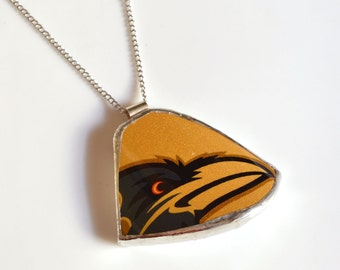 Broken China Jewelry - Gold Baltimore RAVENS