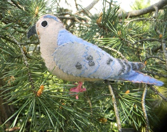 Felt Dove bird  Ornament mourning dove Home Decor