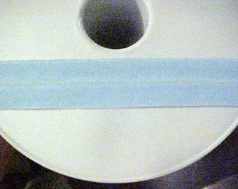 Foldover Elastic  Baby Sky BLUE Woven 3/4  inch 10 yds lingerie baby headband