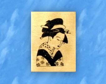 GEISHA mounted Japanese rubber stamp, No.12