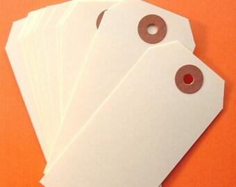 75 manila shipping tag labels / size 3 medium tags