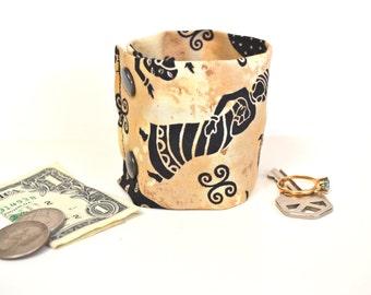 Money Wrist  Cuff- Secret Stash- Lady in Dress - -stash your cash, coins, jewels, health info  in a hidden inside zipper--