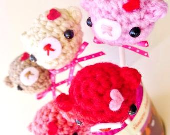 Four bear lollipops- value set