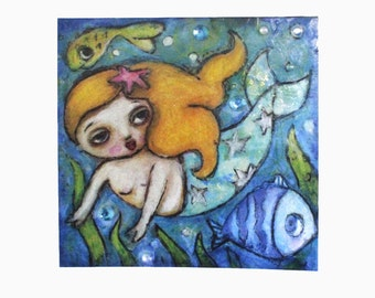 art print, 'Little Mermaid', print from my original painting,open editon