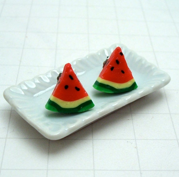 Juicy Watermelon Stud Earrings