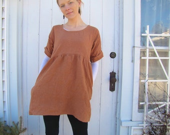 Organic Linen Backyard Tunic