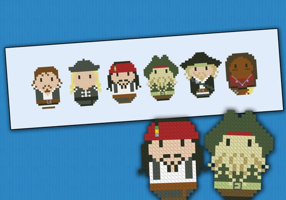 Pirates of the Caribbean: At World's End parody - Cross stitch PDF pattern