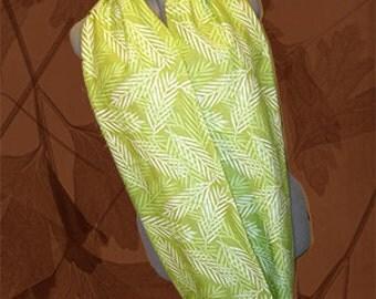 Ferns Eternity Scarf, Flannel Foliage/Leaves Cowl, Neck Warmer, Gaiter, Infinity Scarflette, Wrap