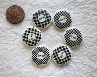 Graphic Buttons 21 mm. set 2 - 20 pcs