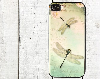 Spring Dragonfly Phone Case for  iPhone 4 4s 5 5s 5c SE 6 6s 7  6 6s 7 Plus Galaxy s4 s5 s6 s7 Edge