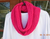 CLEARANCE-Infinity Eternity Cowl Scarf-Shocking Pink