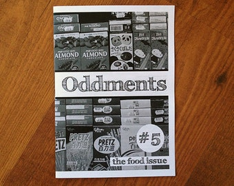 SALE! - Oddments 5 Zine - The Food Issue (sweets, drinks, Japan)
