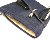 Galaxy Tab 3 or 4 Case Galaxy Note Kindle Cover iPad Sleeve - Blue Denim