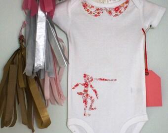 Pinocchio Fabric Silhouette Baby Onesie ( Sarah Jane )