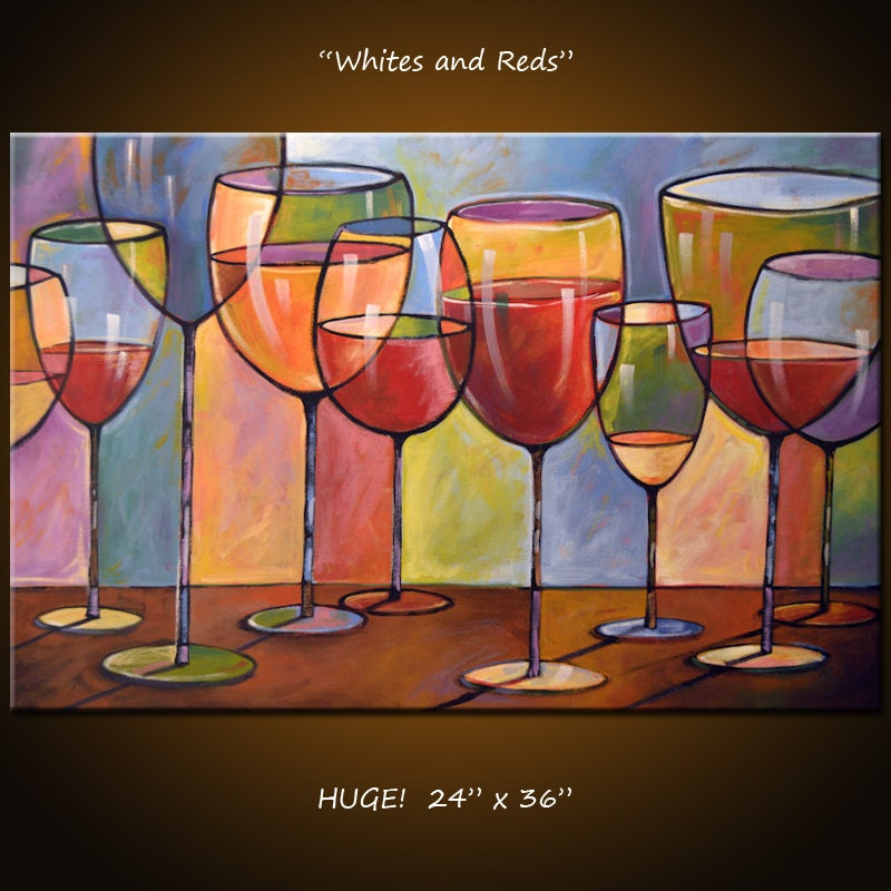 Dining Room Artwork: Amy Giacomelli Painting Abstract Modern Dining Room Decor Wine