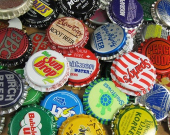 Lot of 50 Assorted Vintage Unpressed Unused Soda Bottle Caps