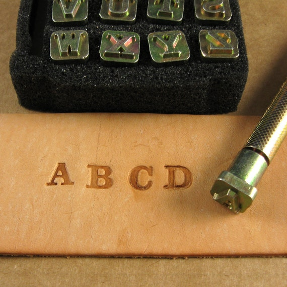 1 4 Solid Typeface Alphabet Stamps Set Of 26 With