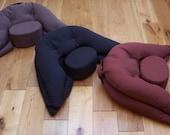 Organic Spelt Husk Ergonomic Meditation Cushion by Moonleap - Regular Size