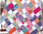 Quilt Terrain patchwork Lap/Throw or Toddler Bed size