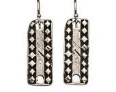 Valkerie Diamond Plate Earrings