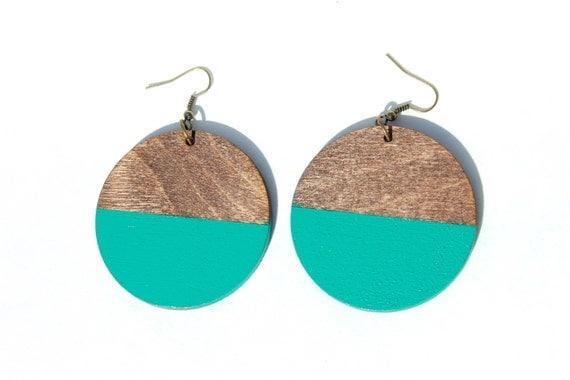 Emerald Green Half Dip Earrings