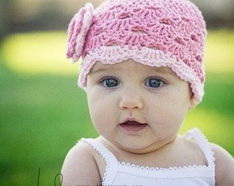 Baby Girl Hat, Newborn Hat, Infant Hat, Baby Girl Flower Hat, Baby Girl Coming Home Outfit, Baby Shower Gift, Photo Prop, Baby Girl Clothes