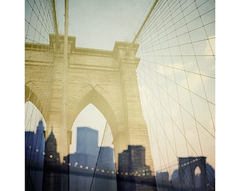 "Brooklyn Bridge Art Print, New York Photography, NYC Skyline, Fine Art Photography, 8x10 Print ""Truly, Madly, Manhattan"""