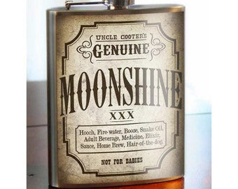 Moonshine Flask - 8oz. - Stainless Steel