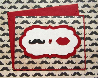 Moustache Love - Red Version