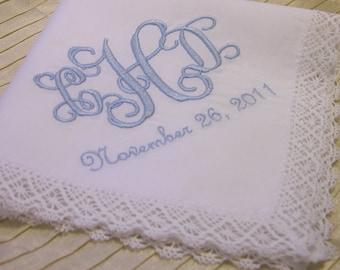 Wedding Hankie with Monogram, names, or Title