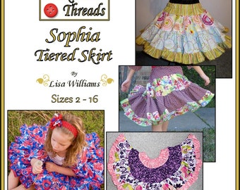 INSTANT DOWNLOAD: Sophia Tiered Skirt - DiY Tutorial PdF eBook Pattern - Sizes 2 to 16