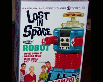 Remco 1966 LOST in SPACE reproduction ROBOT box