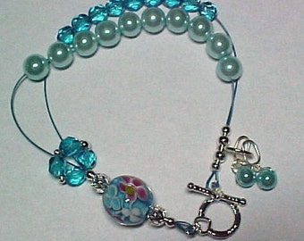 Stitch Marker Holder and Abacus Row Counting Bracelet  - Contessa - Item No. 58