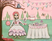 """Tea Party in the Magical Cypress Grove - 8"""" x 10"""""""
