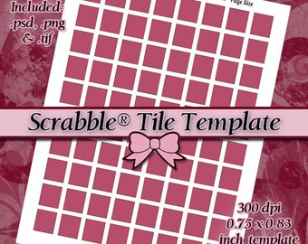 Scrabble Tile .75x.83 inch DIY DIGITAL Collage Sheet TEMPLATE 8.5x11 Page with Video Tutorial Instructions (Instant Download)