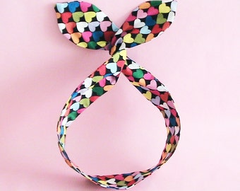 Dolly Bow Headwrap - Colors of Heart