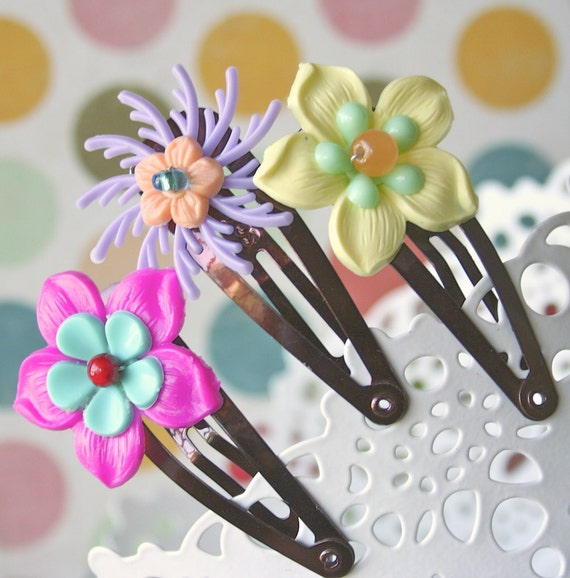 Set of 3 Hair Clips - Astra