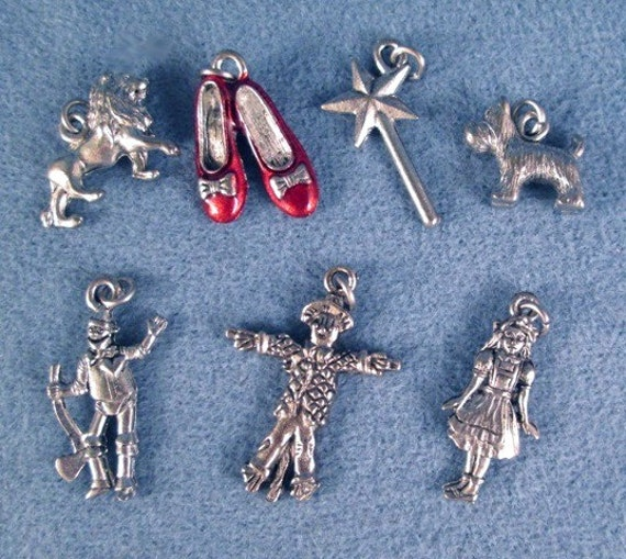 Wizard of oz charm set make your own bracelet includes dorothy tinman