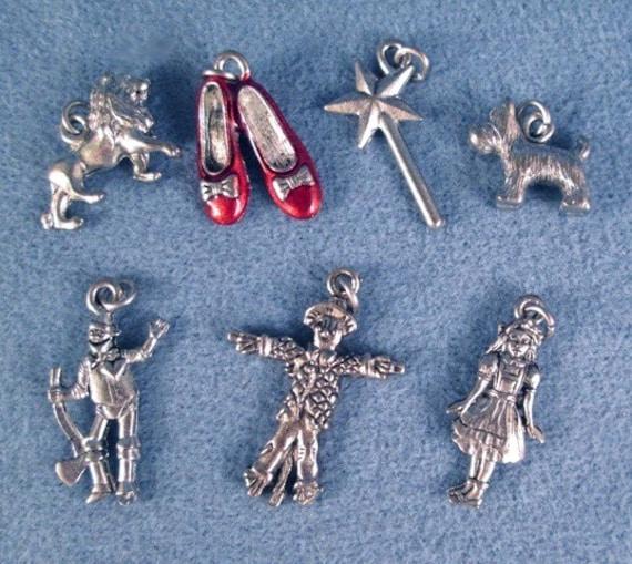 Make Your Own Charm Bracelets: Wizard Of Oz Charm Set Make Your Own Bracelet By DebsTreasures