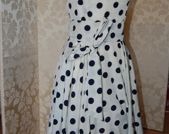 SALE Strapless Polka Dot dress