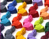 Kids' Easter BUNNY RABBIT CRAYONS, Birthday Party Favors Pack of 20 Bunnies Peeps, Eco-Friendly Toys Favors Asst. Colors, For Boys and Girls